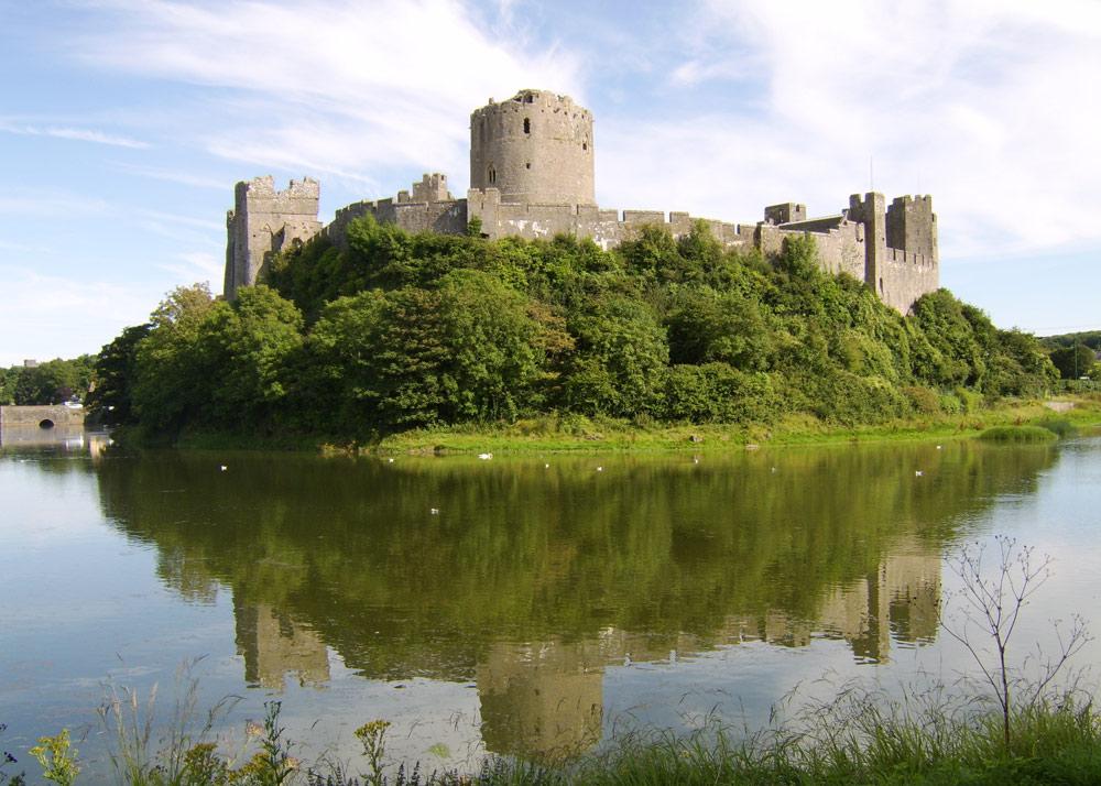 Pembrokeshire Castle in Wales